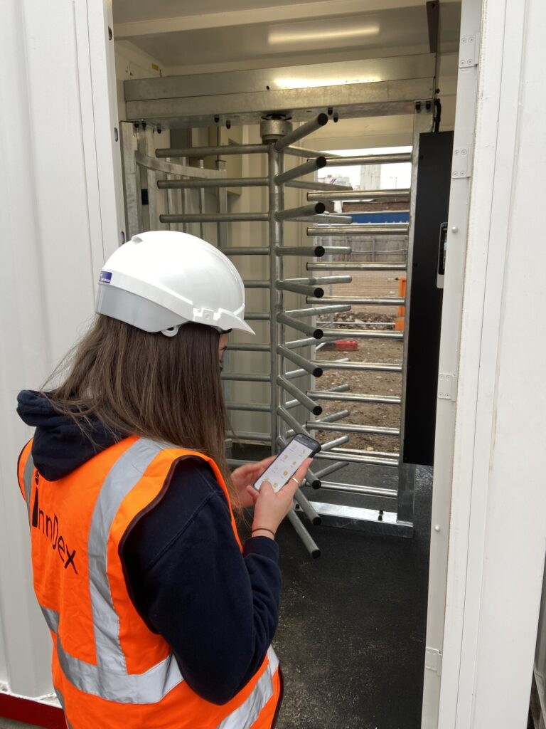 inndex contactless site access control system in action