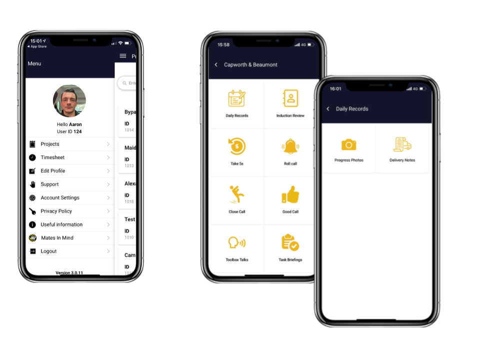the inndex mobile app in action