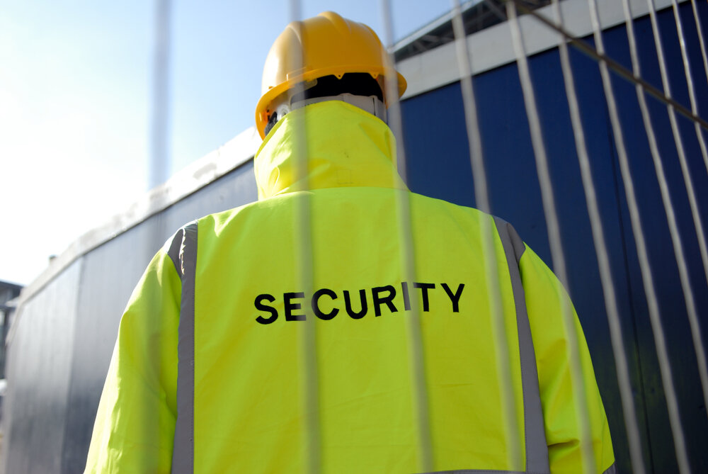 construction site security manager