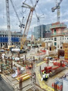 construction site in stratford london