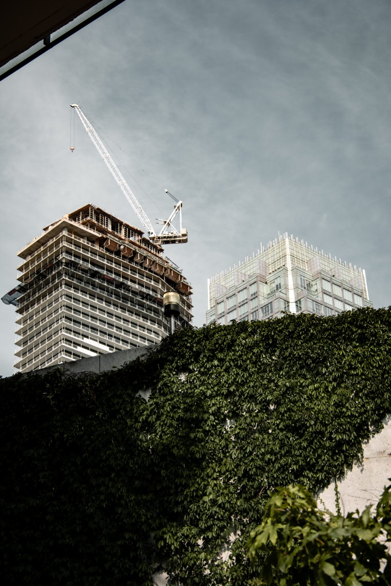 green building construction site