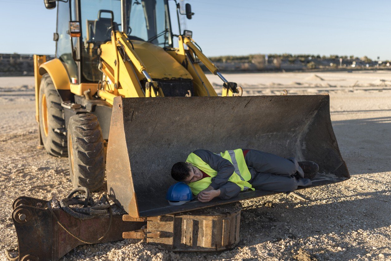 fatigued worker on site